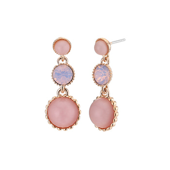 미드나잇잉크 3color pink earrings